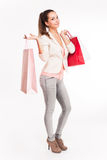 Christmas shopping. Royalty Free Stock Photography