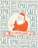 Christmas shopping poster Royalty Free Stock Photo
