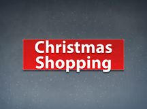 Christmas Shopping Red Banner Abstract Background. Christmas Shopping Isolated on Red Banner Abstract Background illustration Design stock illustration