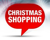 Christmas Shopping Red Bubble Background vector illustration