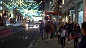 Christmas Shopping at Regent street in London - LONDON, ENGLAND - DECEMBER 11, 2019