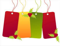 Christmas shopping sale tags Stock Images