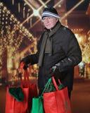 Christmas Shopping Senior Royalty Free Stock Photo