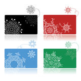 Christmas shopping, set of credit cards Royalty Free Stock Photo