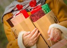 Christmas shopping - shopping bags Royalty Free Stock Photos