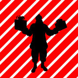 Christmas Shopping Silhouette Illustration Stock Photos