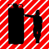Christmas Shopping Silhouette Illustration Royalty Free Stock Image