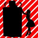Christmas Shopping Silhouette Illustration Stock Images