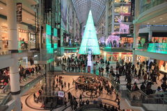 Christmas Shopping in Toronto Stock Photography