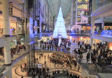 Christmas Shopping in Toronto Royalty Free Stock Image