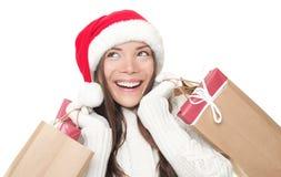 Christmas shopping woman Stock Photos
