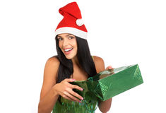 Christmas Shopping  woman Stock Images