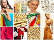 Christmas Shopping woman Stock Photo