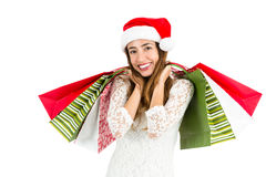 Christmas shopping woman Royalty Free Stock Photos