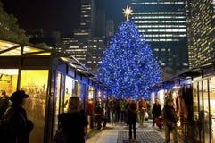 Christmas Shops Bryant Park Stock Photos