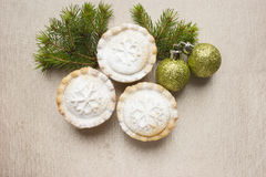 Christmas short crust pastry mince pies Stock Images
