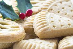 Christmas Shortbread and Fruit Mince Pie. Royalty Free Stock Photography