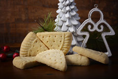 Christmas shortbread on rustic background. Stock Photography
