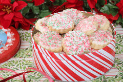 Christmas Shortbread Sugar Cookies Stock Photos