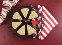 Christmas shortbread triangle cookies Stock Image