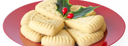 Christmas Shortbread. Royalty Free Stock Images