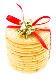 Christmas shortbread  wrapped with red ribbon pastry cookies iso Stock Photography