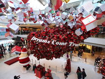 Christmas show in IFC Mall. IFC Mall in Hong Kong Royalty Free Stock Image