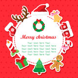 Christmas shower card with place for your text Royalty Free Stock Photography