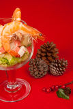 Christmas shrimp cocktail Stock Photos