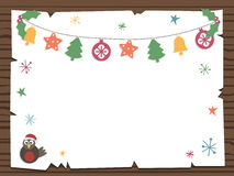 Christmas sign. Wooden sign with christmas party notice ready for your text Royalty Free Stock Photography