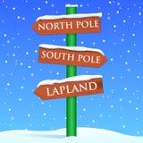Christmas Sign stock illustration