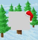 Christmas Snow Santa Hat Abstract Geometric Sign royalty free stock image