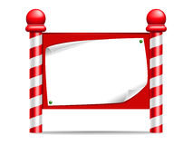Christmas Sign. A festive looking sign / notice board Stock Photos