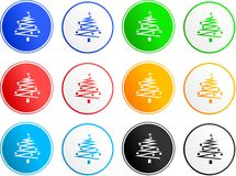 Christmas sign icons Royalty Free Stock Photos