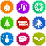 Christmas sign icons Royalty Free Stock Image