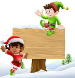 Christmas Sign Illustration Royalty Free Stock Images