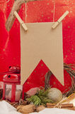 Christmas sign. Lettering congratulations on a red background stock image