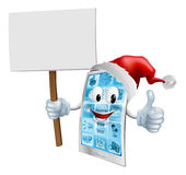 Christmas sign mobile phone Stock Photo
