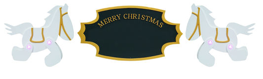 Christmas Sign Ornament Stock Images