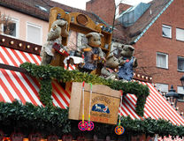 Christmas signboard with dolls in Nuremberg Stock Photography
