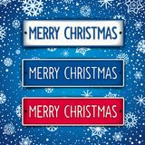 Christmas signboards Stock Photography