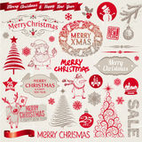 Christmas signs, emblems and elements Royalty Free Stock Photos