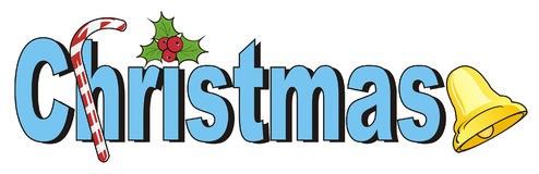 Christmas signs and word Royalty Free Stock Images