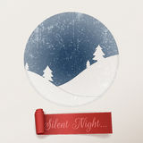 Christmas silent Night white greeting Card Stock Photography
