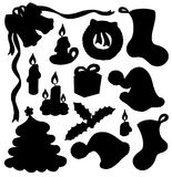 Christmas silhouette collection 01 royalty free stock image