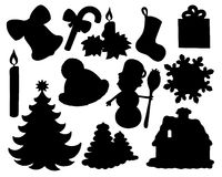 Christmas silhouette collection 02 Royalty Free Stock Photo