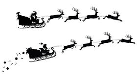 Christmas silhouettes. Royalty Free Stock Photo