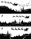 Christmas silhouettes. Royalty Free Stock Images