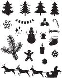 Christmas silhouettes Royalty Free Stock Image