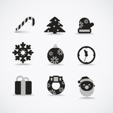 Christmas silhouettes Royalty Free Stock Photography